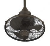 Extraordinaire 360 Degrees Orbit Oil-rubbed Bronze Ceiling Fan, Black Cage, 220v