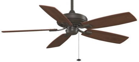 Edgewood Decorative Oil-rubbed Bronze Ceiling Fan, Cherry/walnut Blades