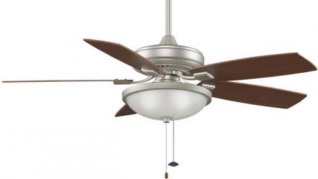Edgewood Decorative Satin Nickel Ceiling Fan With Light Kit