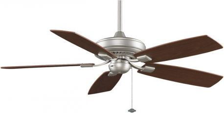 Edgewood Decorative Satin Nickel Ceiling Fan, Walnut/light Walnut Blades