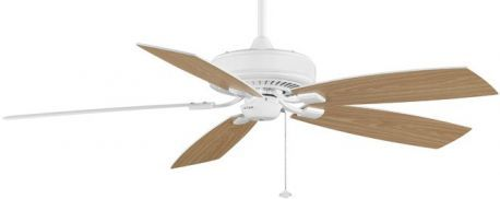 Edgewood Deluxe White Ceiling Fan, Oak/white Oak Blades