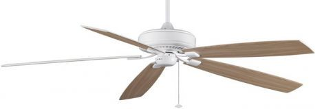 Edgewood Supreme White Ceiling Fan, Oak/white Finish Blades