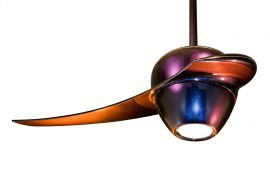 FP2120RB Enigma Red/Blue Iridescent Finish Ceiling Fan
