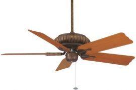 "FP4320TS1-BPW10CY Belleria Tortoise Shell Ceiling Fan w/ 20"" Cherry Composite Wood Grain Blades"