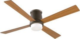 "FPS7880OB-BPW7880CY Inlet Oil-rubbed Bronze Ceiling Fan w/ Opal Frosted Glass and 18"" Cherry All-weather Composite Blades"