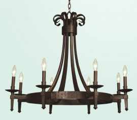 Fr05 8 Light Brown Ceiling Fixture