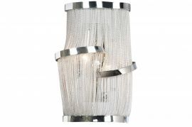 Hf1404-ch Chrome Chain Wall Sconce