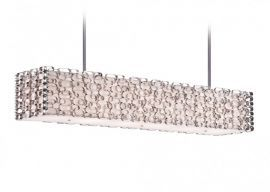Hf1701-pn Collecton Metal Oval Pattern Rectangle Hanging Fixture