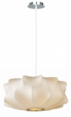 Hf2112-wht White Fabric Pendant Like Hanging Fixture
