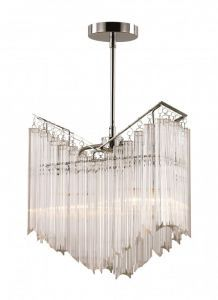 HP-2 PC 2-Light Chandelier, Polished Chrome Finish