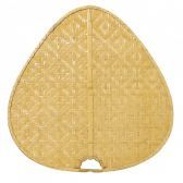 "Isd1c 22"" Blade, Wide Oval Bamboo, Clear - 5 Fan Blades"