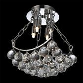 Contemporary 4-Light Elegant Crystal Chandelier