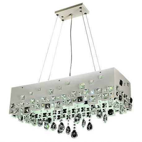 "10-Light LED Pendant Chandelier, 32""L X 11""W X 40""H"