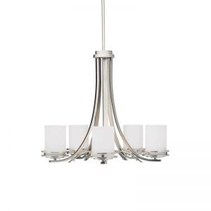 8-Light Value Satin Nickel Chandelier, 25W x 48H