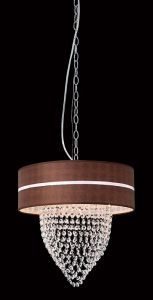 1-Light Flame Chandelier, 12W x 22H