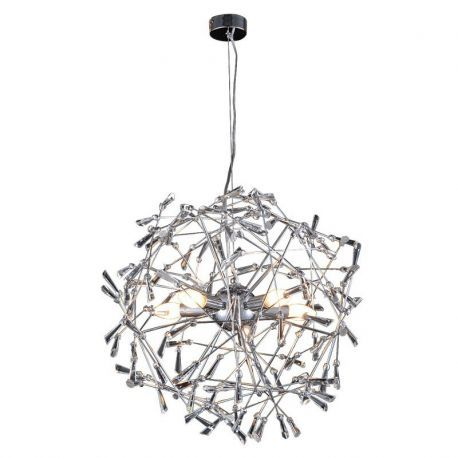 "6-Light Crystallization Chandelier, 22""D x 60""H"
