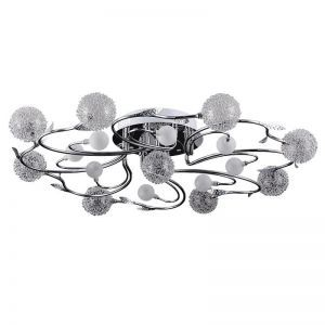 "9-Light European Ceilig Fixture, 28""D x 7""H"
