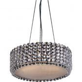 "4- Light Crystal Pendant w/ Diffuser, 16"" D, Adjustable Height"