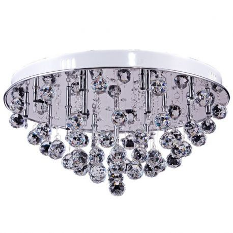"15-Light Crystal Round Chandelier, 17""D x 8""H"