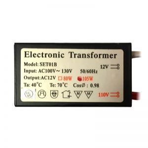 Electronic Halogen Transformer, Low Voltage, 12V 105W, OEM