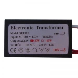 Electronic Halogen Transformer, Low Voltage, 12V 120W