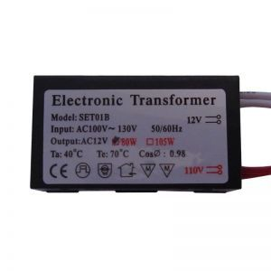 Electronic Halogen Transformer, Low Voltage, 12V 80W, OEM