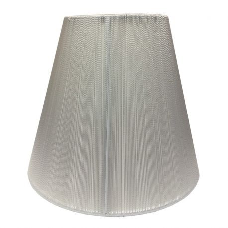 White Lamp Shade over Torpedo or Candle Bulbs