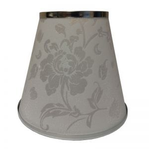 Flower White Lamp Shade over Torpedo or Candle Bulbs