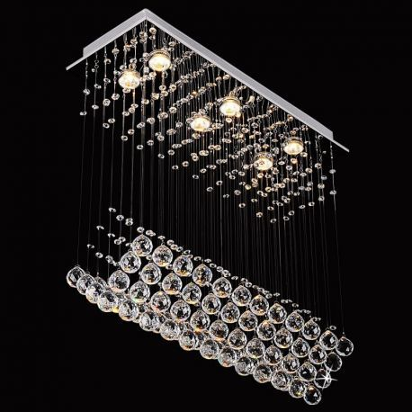 "6-Light Boat Crystal Chandelier, 28""L X 10""W X 28""H"