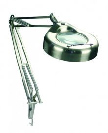 Lsm-180ps 3-diopter Magnifier Lamp, Polished Steel, 22w/t9 Type