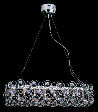 Mdn-631 8-light Pendant, Circles W/ Decorative Crystals