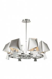 Metro Silver 6 Light Chandelier