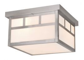 "Mission 12"" Ceiling Light Stainless Steel"