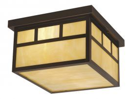 "Mission 12"" Outdoor Ceiling Light Burnished Bronze"
