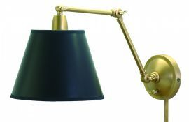 "20"" Weathered Brass Library Lamp"