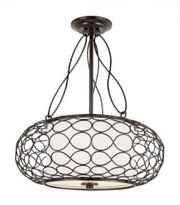 "Bird Cage 18"" Pendant Brown"