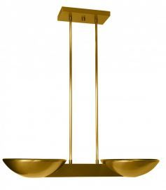 Pascal Halogen Ceiling Mount Brushed Brass Ceiling Fixture