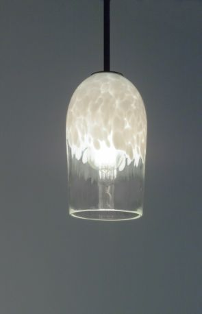 "Rose Cylinder Pendant Incandescent 17"" OA Drop Clear White Ceiling Fixture"