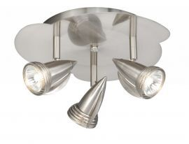 3L Line Voltage Ceiling Light Satin Nickel