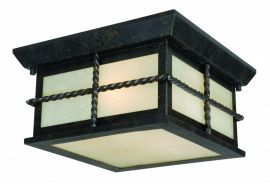 "Savannah 10"" Outdoor Ceiling Light Gold Stone"