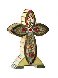 Ta101214 Flora Tiffany Cross Accent Lamp