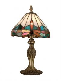 Ta10606 Tiffany Jewel Dragonfly Accent Lamp
