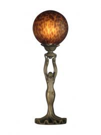 Ta11036 Woman With Ball Accent Lamp