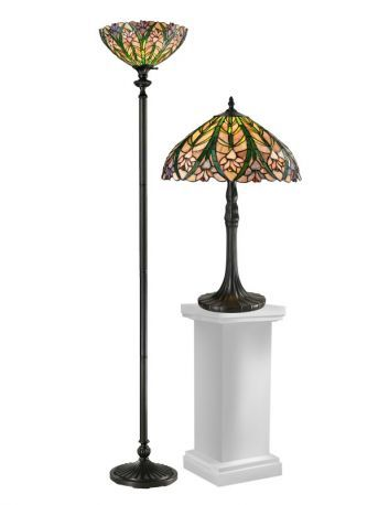 Tc12339 Cactus Bloom Table & Floor Lamp Set