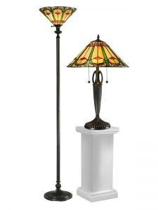 Tc12340 Quill Table & Floor Lamp Set