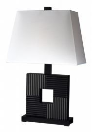 TL107 1 Light Table Lamp, Black/White