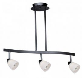 3L Spot Light Pendant Dark Bronze Frosted Opal Glass