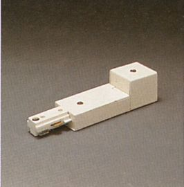 TR128 WH Track One-Circuit Accessories 1- circuit end power feed, White