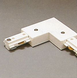 TR131 WH Track One-Circuit Accessories 1- circuit L connector , White