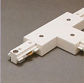 TR132 WH Track One-Circuit Accessories 1-circuit T connector, White